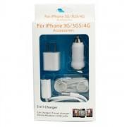 5in1 Incarcator USB, Auto, Priza, Casti, Splitter Casti iPhone 3 3GS, 4, 4S