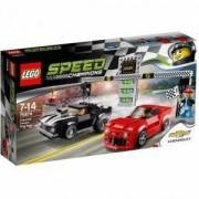 Конструктор Лего Спийд Шампиони - Състезание с Шевролет Камаро - LEGO Speed Champions, 75874
