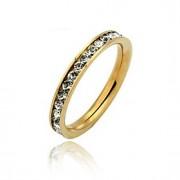 Anéis Casamento / Diário Jóias Aço Inoxidável Feminino Anéis Meio Dedo / Anéis Grossos5 / 6 / 7 / 8 / 9 / 10 Dourado