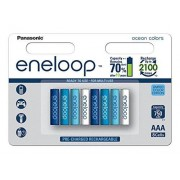 Panasonic eneloop BK-4MCCE/8SE AAA Ready to Use Micro Ni-Mh batería (8 unidades, 750 mAh, 2100 ciclos) Multicolor