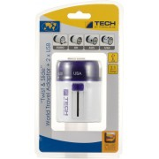 Travel Blue Twist & Slide with Dual USB Charger Worldwide Adaptor(Purple)