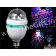 Lampa multicolora cu lumina rotativa