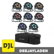 American DJ Mega Tripar Profile PLUS 8er Set Bag Bundle