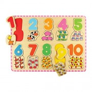 Bigjigs Toys BJ549 - Puzzle de números y colores