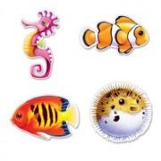 Luau Under The Sea Fish Cutouts 14in. 4/Pkg, Pkg/1