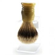 100% BORSUK SILVER TOP - pędzel do golenia z UCHWYTEM - kwarc, jasny - SOLINGEN-KIEHL