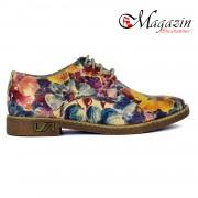 Pantofi Dama Piele Naturala - Prego - 117 Floral