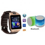 YSB Music Mini Bluetooth Speaker(S10 Speaker) And DZ09 Smart Watch for XOLO PLAY 8X-1000