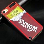 de chocolate padrão padrão de design de volta cobrir caso difícil de proteção para o iPod touch 5