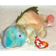 Ty Beanie Babies Iggy the Iguana Rainbow Colors [Toy]