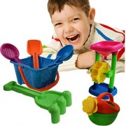 Toy Cubby Beach Sand And Sandbox Sand Wheels With Bucket Play Set