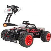 SZJJX RC Cars 1/16 Scale 2WD High Speed Vehicle 15MPH+ 2.4Ghz Radio Remote Control Off Road Racing Monster Crawler Trucks Fast Electric Race Buggy with LED Light and Sound SJ1502 Red