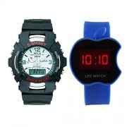 Creator S-Showy And Blue Apple Touch (Random color will be sent) Analog-Digital Watch - For Men & Women