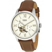 Fossil Townsman Mechanical White Dial Brown Leather Mens Watch ME3064 N/A
