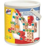 Woodyland Didácticos Juguetes ensambladas Building Construction Set en un cubo (130 piezas)