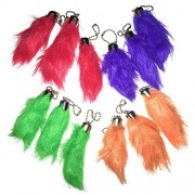 Best 12 Pack Real Geniune Lucky Rabbit Foot Key Chain Key Ring Bulk Rabbits Foot Furry Charms in Fou