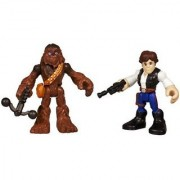 Plasyskool Heroes Star Wars Jedi Force Exclusive Action Figures Han Solo & Chewbacca 2-Pack by Hasbro