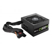 Corsair CS Series CS650M - Alimentation ( interne ) - ATX12V 2.4/ EPS12V 2.92 - 80 PLUS Gold - CA 100-240 V - 650 Watt - PFC active - Europe