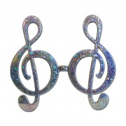 Silver Music Style Fancy Dress Glasses