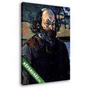 Paul Cézanne: Cézanne önarckép (20x25 cm, Vászonkép )