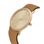 Analog Watch Classic Gold Plated Dial & Tan Strap Watch GT-CG