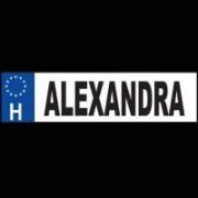 Alexandra - Név rendszámtábla
