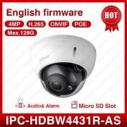 Dahua IPC-HDBW4431R-AS 4MP POE 2.8MM Fixed Dome EXIR Outdoor CCTV Security IP Camera Audio Mirco SD Slot IP67 IK10 Vandalproof