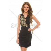 Rochie MissQ Shiny Chest Black