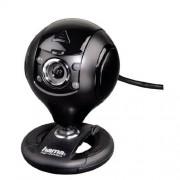 """Hama Webcam per PC HD """"Spy Protect"""", HD 720p 16:9, USB+Jack 3,5mm, microfono integrato, 4 led, supporto a clip, protezioni lenti, nero"""