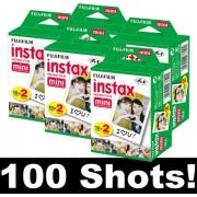 Fujifilm Instax Mini Film Set of 5 x 20 Films for a Total of 100 Photos
