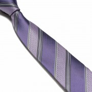 """Purple/Black Pattern Thick Striped Microfibre Tie"""