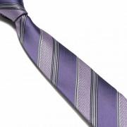 """Purple/Black Pattern Thick Striped Microfibre Tie"""