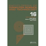 Encyclopedia of Computer Science and Technology: Index Volume 16 by Jack Belzer