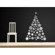 Hópelyhes Karácsonyfa ! -47% ! - 90Sz x 127M (A1391)