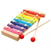 SweetToy Wooden Early Childhood Music Octave Color Steel Sheet Children's Musical Toys
