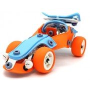 Creative Build & Play Sports Car Original Building Flexible Sheet 101 Parts Assembling Model Toy Set For 5+ Aged Kids