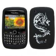 Samrick 0000431500 dragon tattoo épaisseur hydro coque de protection en silicone tPU pour blackberry curve 8520/9300 curve 3G 2 g-noir