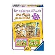 Ravensburger 06572 - My First Puzzles - Dearest Pets, 3 x 6 Parts- Frame Puzzle
