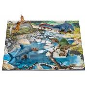 Schleich - 42330 - Figurine haute qualité - Mini-Dinosaures avec Puzzle Point d'eau