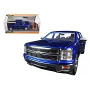 "2014 Chevrolet Silverado Pickup Truck Blue ""Just Trucks"" With Extra Wheels 1/24 By Jada 97223"