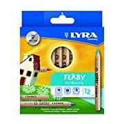 Lyra Ferby Natural in Cardboard Case Unpainted 12 Farbstifte