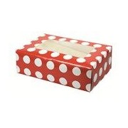 2 Red With White Dots Cupcake Boxes