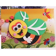 3D Craft Sticker Self-adhesive Crafts Learning Education Toys(2 different Designs per box, Size 13*17CM)