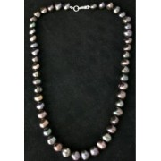 """42Cm Fab Baroque Black Freshwater Pearl 16"""" Necklace"""