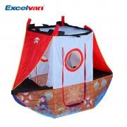 Excelvan Pirate Bateau Tente Rôle Play Jeu Portable Pliable Enfants Jeux Playhouse Pop-Up Pour Intérieur Extérieur