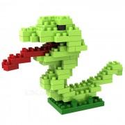 WLTOYS 6607 Snake Building Blocks Educational Toy for Children / Kids - Green + Multi-Color