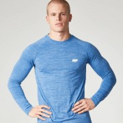 Myprotein Men's Performance Long Sleeve Top, Blue Marl, M