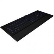 Klávesnica Canyon CNS-HKB6SK, multimediálna, USB, 124 kláves, modro LED podsvietená, pogumov. povrch, štíhla, čierna, SK