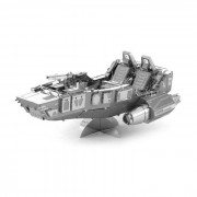 DIY 3D puzzle montado educativo de los juguetes de motos de nieve Modelo - plata