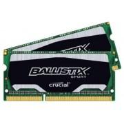 Ballistix Sport Kit Memoria da 8 GB (4 GBx2), DDR3, 1866 MT/s (PC3-14900), SODIMM 204-Pin - BLS2C4G3N18AES4CEU